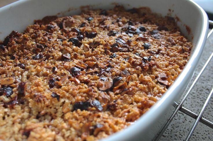 recipe gluten-free apple crumble with hazelnuts   Opskrift glutenfri æble crumble med hasselnødder