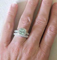 Green Amethyst Engagement Rings (GR-2086)
