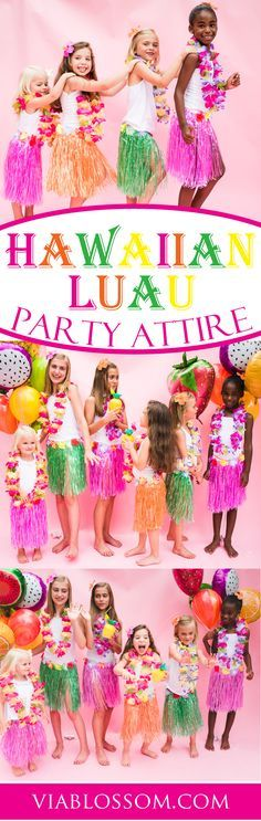 A Luau Party is not complete without the right attire!! If you're planning a Moana birthday Party then we've got the perfect Hawaiian outfits for all your guests!