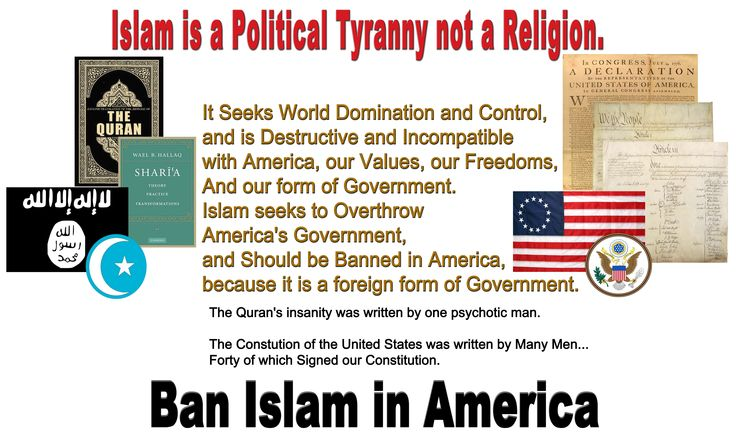 Islam is a form of Foreign Government - Ban Islam in America ...