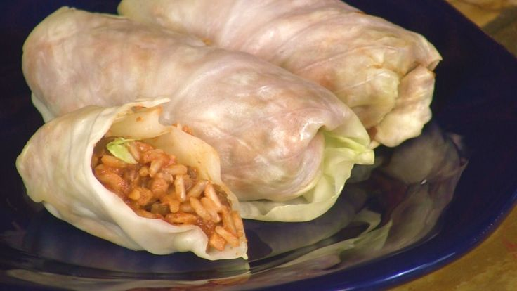 Stuffed cabbage rolls is a great party item. Rich in protein and fiber this dish to delicious to taste and great to look at too Made with lentil and rice...