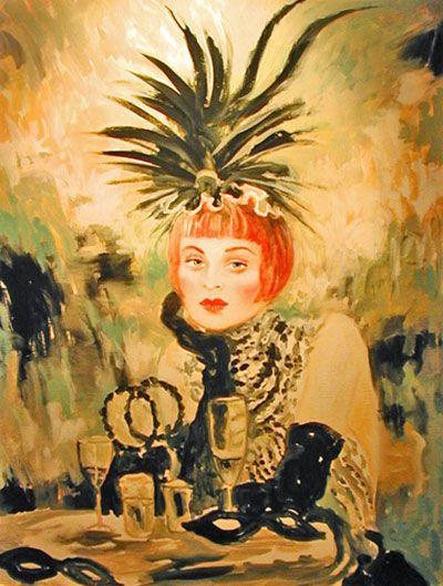 Lola 40x40 by Joanna Zjawinska, Original Painting, Oil on Canvas