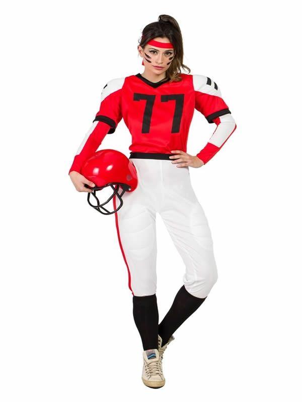 Disfraz De Jugadora Rugby Para Mujer Disfraz Futbol Americano Disfraces Carnaval Mujer Disfraces Baratos