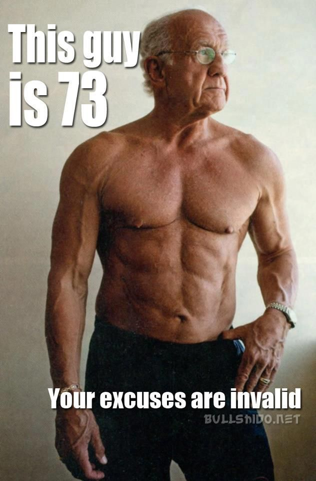 this guy is 73, your excuses are invalid