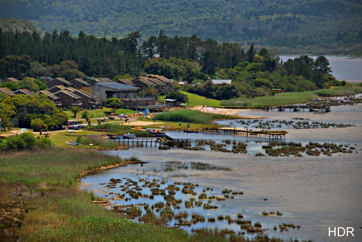 A view of Pine Lake Marina near Sedgefield, South Africa.