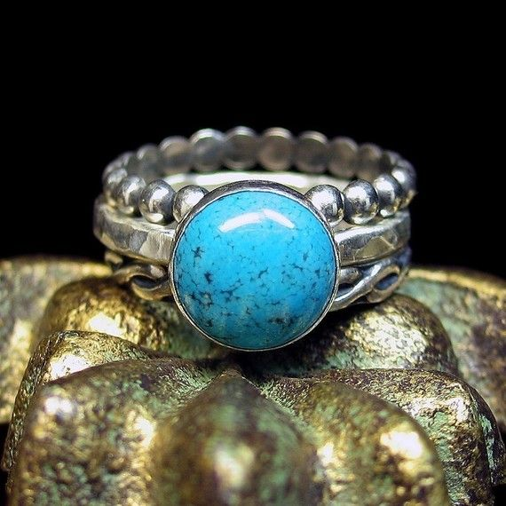 Turquoise Rings Sterling Silver - Skies of Blue