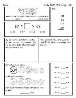 Math Freebie for Second Grade