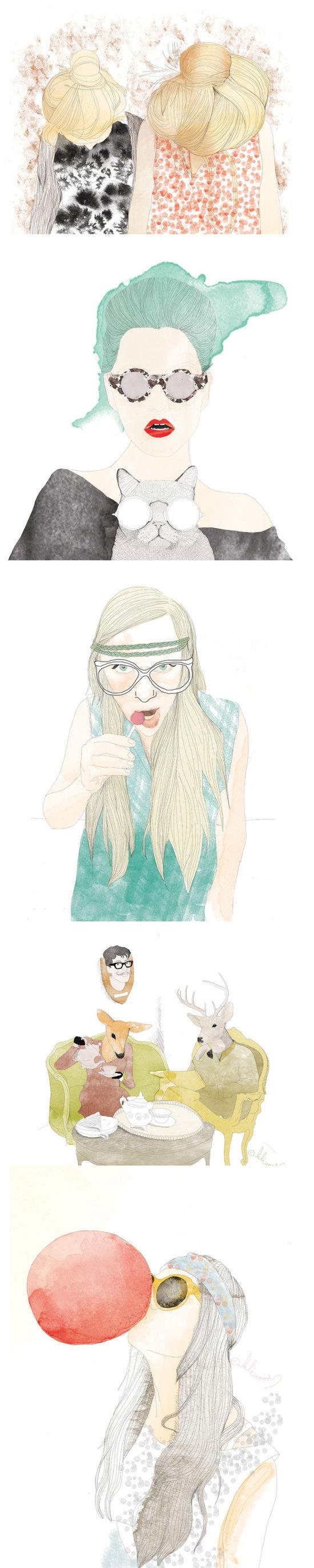 http://www.boumbang.com/lili-wood/ Lili Wood, Illustration ©