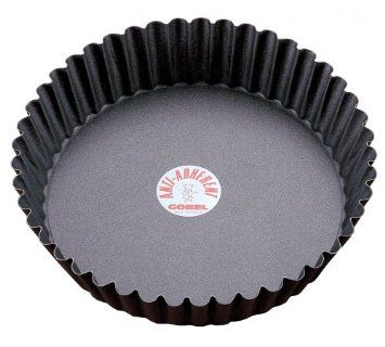 "Amazon.com: Paderno World Cuisine 9.5 Inch ""Deep"" Fluted Non-Stick Tart Mold with Removable Bottom: Kitchen & Dining"