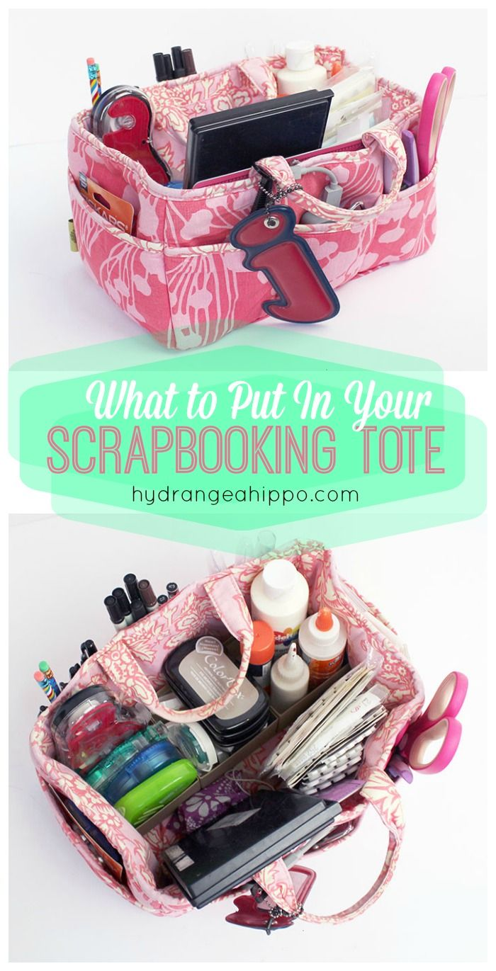 Scrapbook ideas and tips - How To Pack A Scrapbooking Tote