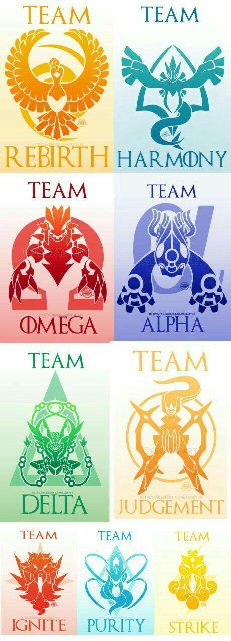 Team Rebirth, Harmony, Omega, Alpha, Delta, Judgment, Ignite, Purity, Strike, text, cool, Legendary Pokémon, Ho-oh, Lugia, Groudon, Kyogre, Rayquaza, Arceus, Entei, Suicune, Raikou, Mega Evolutions; Pokémon: