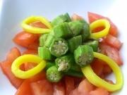 Raw Okra Salad with Raw Adobo DressingRaw Adobo, Okra Salad, Raw Philippines, Raw Okra, Philippines Okra