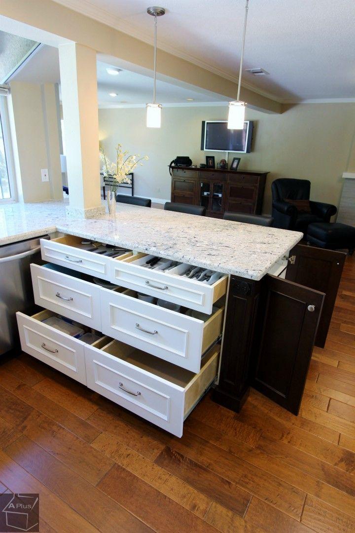 #kitchenremodel With Custom #Cabinetry Island In Irvine Orange County