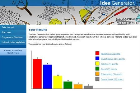 The Idea Generator is an online tool that generates a list of possible programs if you want to study at Sheridan but are not sure what to take.