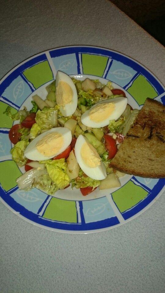 Salát s vajíčkem