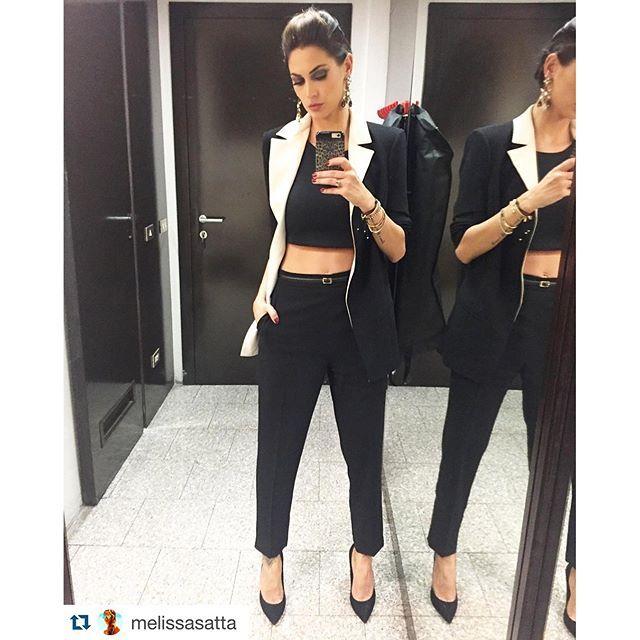 Melissa Satta wears @elisabetta_franchi #elisabettafranchi #pe2016 #fashion #melissasatta #style #women