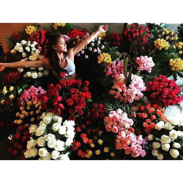 Roomfull of roses for Cassie Ventura. Created and supplied by Rosemary Florist, Sea Point.