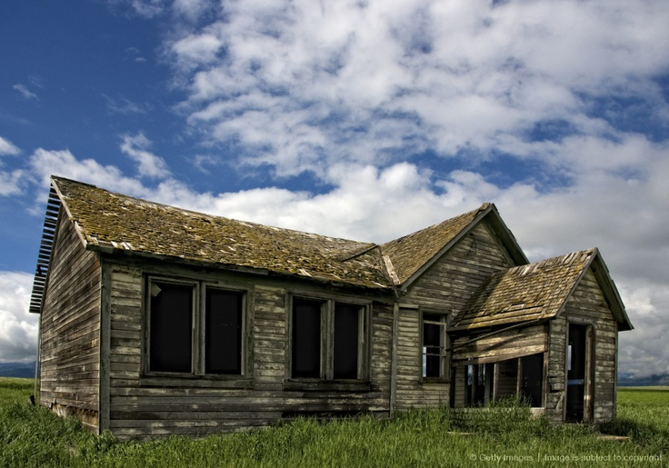 Often misidentified as an abandoned cabin, the structure near Swan Valley, Idaho is actually an old school house . . .Old School