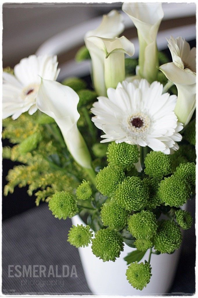 White and green flowers by Esmeralda's blogger Essi