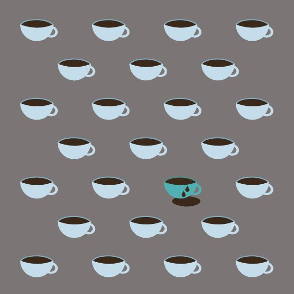 cup, cup, cup... of coffee illustration by Samar Khanafer// all rights reserved