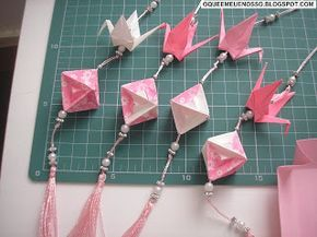 O QUE É MEU É NOSSO: Origami - Pingente e móbile de pendurar (Tassel and hanging mobile)