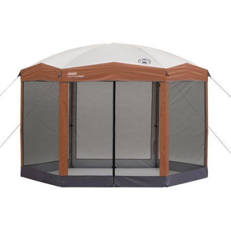 Coleman 12-by-10-foot Hex Instant Screened Canopy/Gazebo - Walmart.com