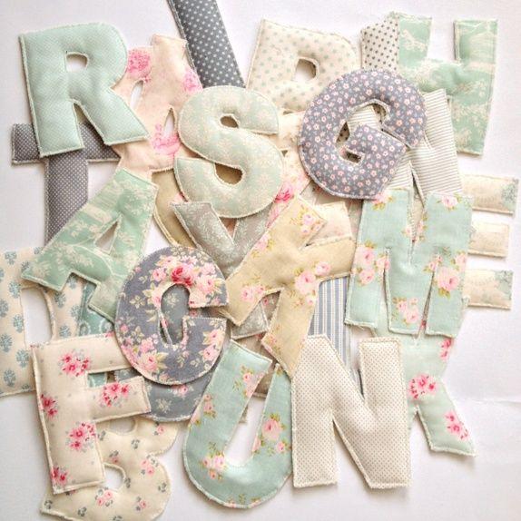 Fabric letters by Marthe Gangsø