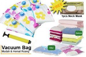 Permudah Dirimu Membawa & Menyimpan Pakaian, Boneka Dll Dengan Vacuum Bag + Free Neck Mask Hanya Rp.129,000 - www.evoucher.co.id #Promo #Diskon #Jual  Klik > http://www.evoucher.co.id/deal/Desember-Vacuum-Bag-Bermotif  Vacuum Bag selain berguna untuk menyimpan barang - barangmu, juga bisa untuk packing pakaian saat EVFriends travel liburan. isi kopermu bisa berkurang hingga 75% jadi bisa muat lebih banyakkan. jadi tunggu apalagi beli sebelum habis. LIMITED STOCK  Note: