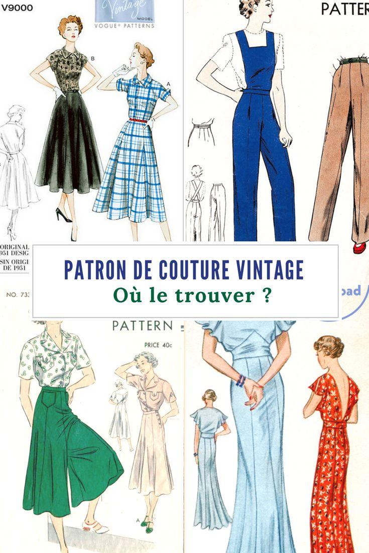 Où trouver un patron de couture vintage / bon plan couture