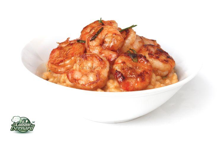 La Cuisine de Bernard : Risotto au Curry Rouge et aux Crevettes