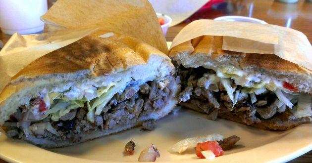 Carne Asada Torta, get it at Cuca's in Foothill Ranch, CA.