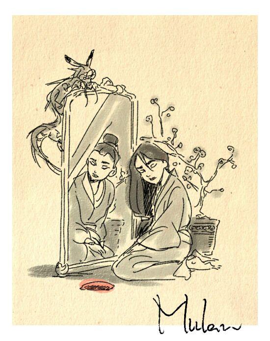 Disney Movie Sketches by Masuo- Mulan