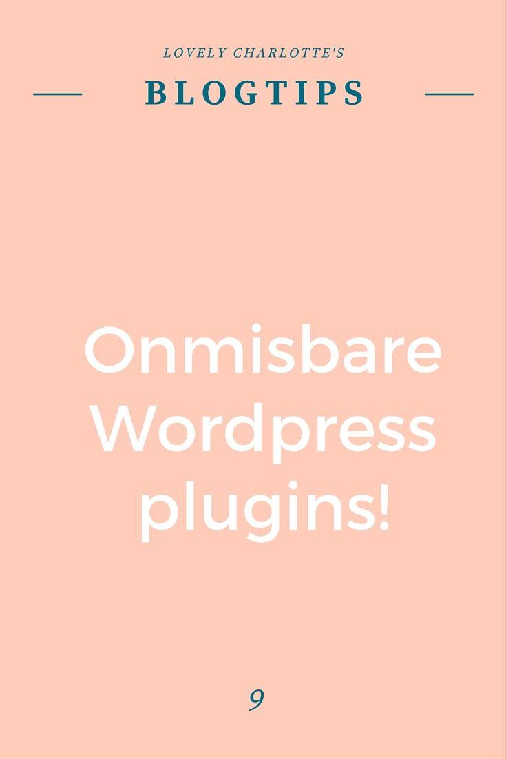 Lovely Charlotte's #blogtips | Onmisbare #Wordpress #plugins!