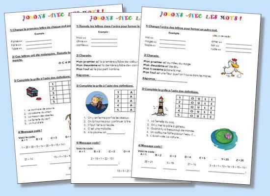 Jeux de vocabulaire – Cycle 2 et Cycle 3