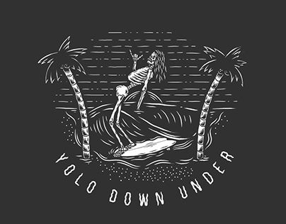 """Check out new work on my @Behance portfolio: """"Yolo Down Under -Apparel Design"""" http://be.net/gallery/50498331/Yolo-Down-Under-Apparel-Design"""