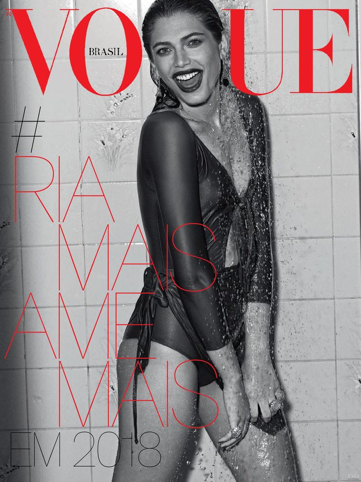 Valentina Sampaio featured on the Vogue Brazil cover from December 2017