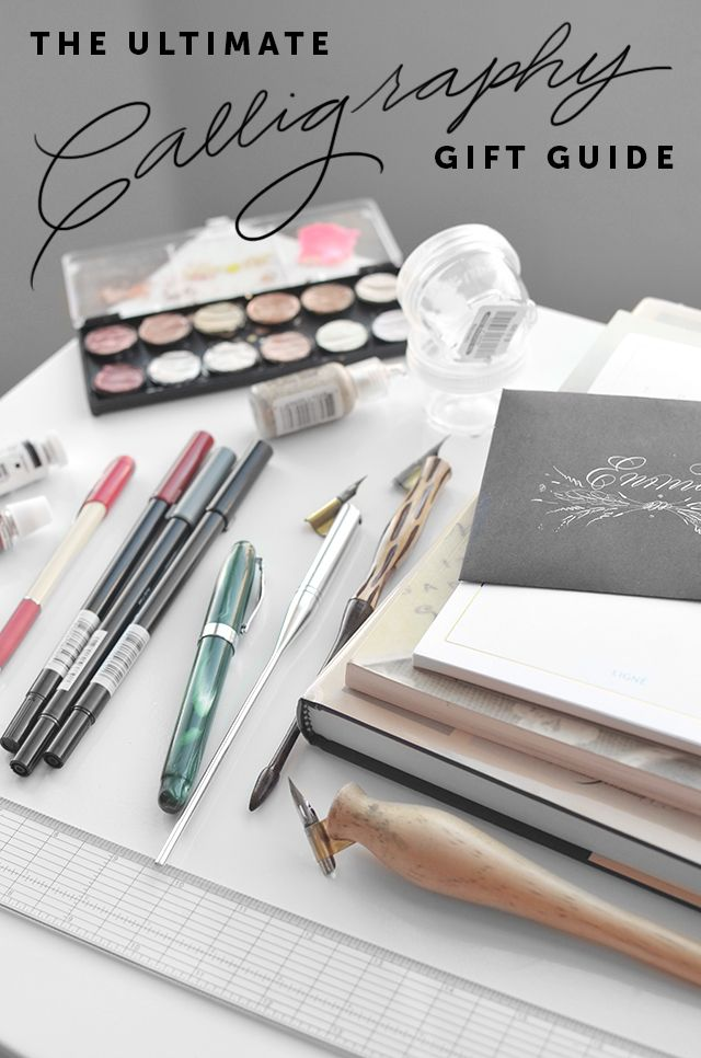 Calligraphy gift guide for calligraphers, letterers and enthusiasts.