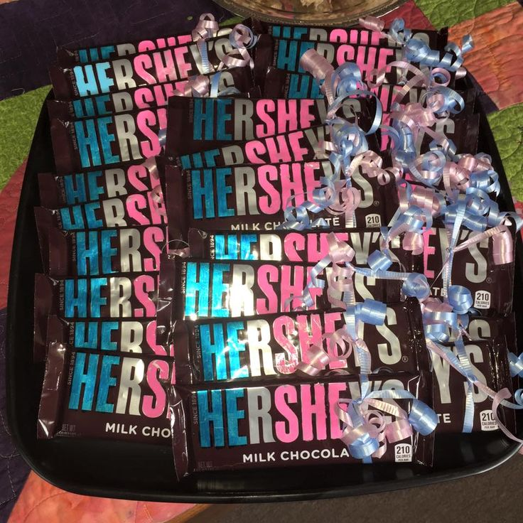 He/She Hershey Bars Gender Reveal Party Favors