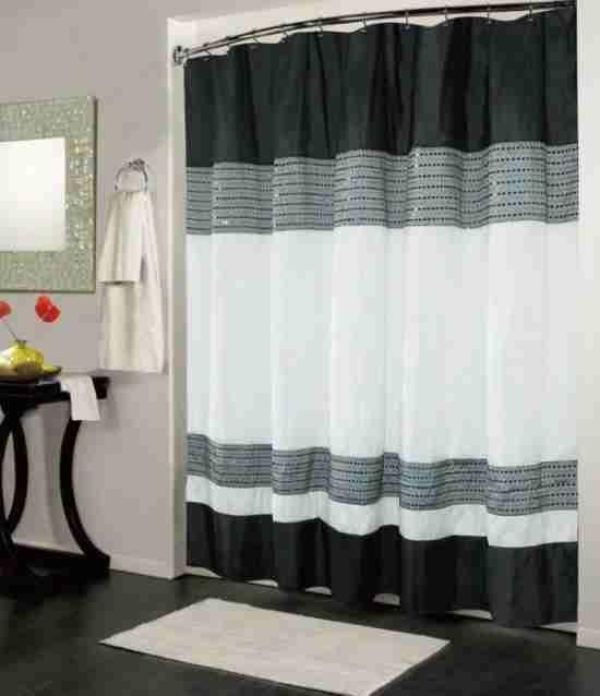 Black And White Shower Curtain Uk