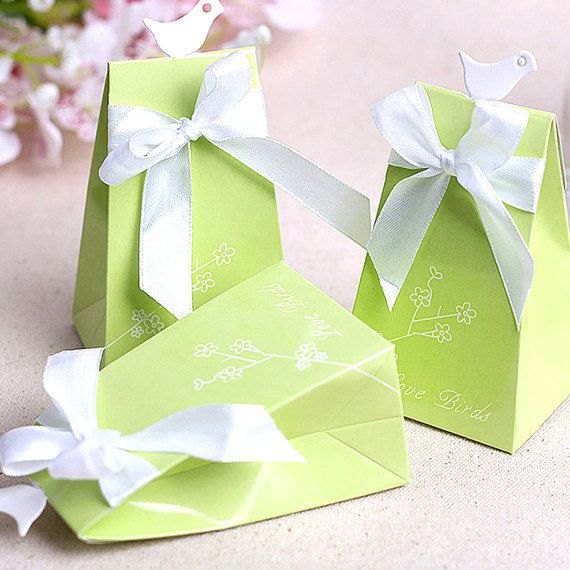 100 Spring Wedding Favors/DIY Love Birds Wedding Favor Gift
