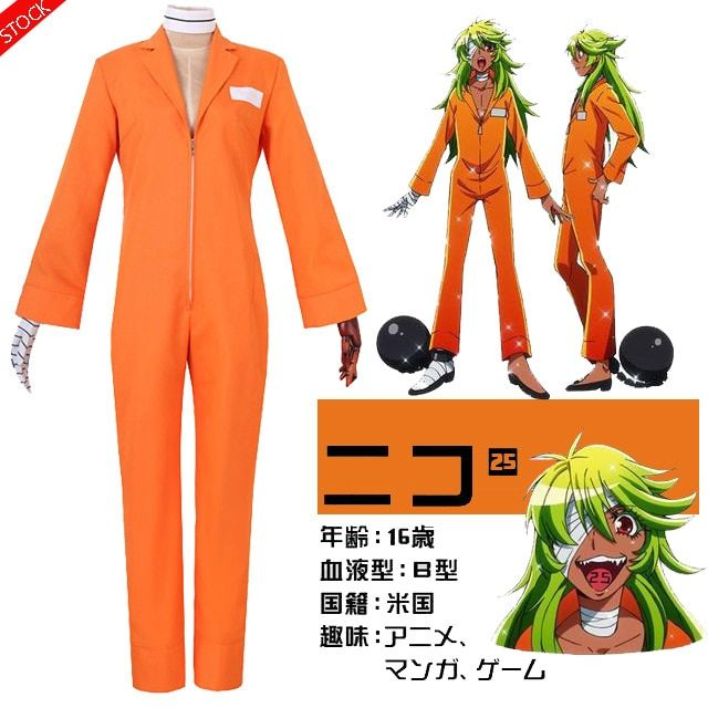 Us 47 79 53 19 Anime Detentionhouse Nanbaka Figure Niko Rock Orange Prison Uniform Unisex Cosplay Costume Fre Anime Uniform Orange Bodysuit Cosplay Costumes