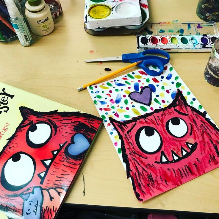 I spent some time developing my love monster art lesson for my third graders today! I'm so happy with the result and I think the kids are going to 💜it!! #elementaryart #artteachersofinstagram #elementaryartteacher #lovemonster #lessondevelopment #ilovemyjob