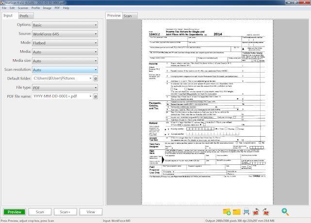 VueScan Screenshot