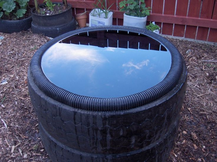 Fish pond from tractor (or car) tires