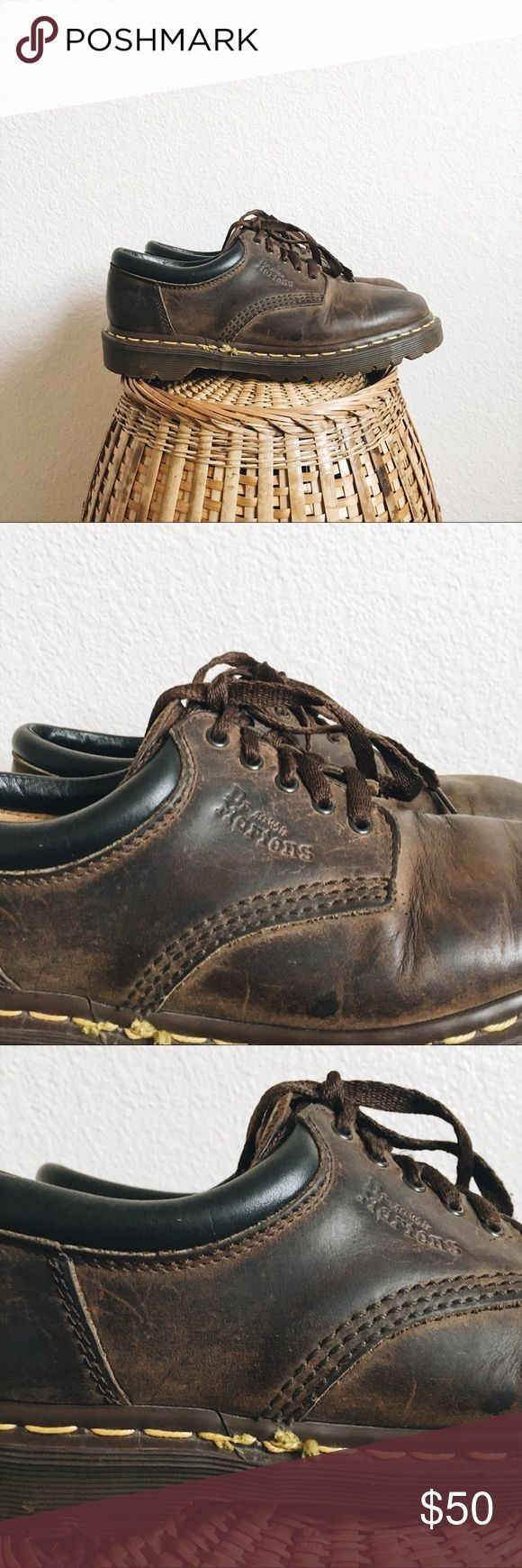 Dr. Martens 8053 Leather Shoes Classic made in England leather shoes in style #8053. Gently used condition but we all know these last forever. Marked a size 5, but it doesn't specify US or UK sizing. Does not fit like a women's US size 5, it's bigger and fits more like a size 7.5/8. Dr. Martens Shoes Ankle Boots & Booties