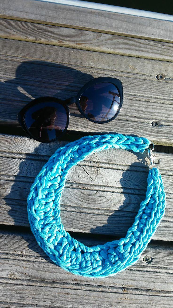 unique cotton jewellery see mee on fb: krupka  #unique #cotton #krupka #jewellery #upcycling