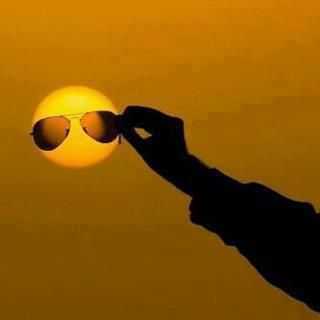 """""""Sun"""" Glasses - I envy people with this kind of imagination.  So cool!"""