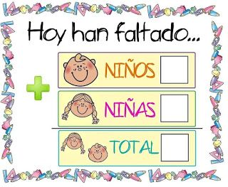 Menta Más Chocolate - RECURSOS PARA EDUCACIÓN INFANTIL: Carteles de Asistencia para iniciarse en la suma y resta