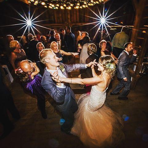 Dancing the night away at Hillside Farm near Huntsville.