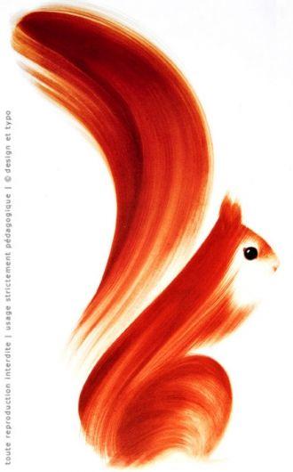 squirrel!: Idea, Brush Strokes, Squirrels, Illustration, Art, Painting, Design, Animal
